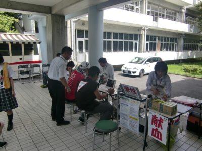 文化祭 献血