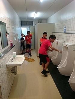 合宿朝清掃サイト