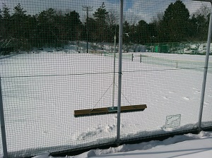 雪テニスコ-ト