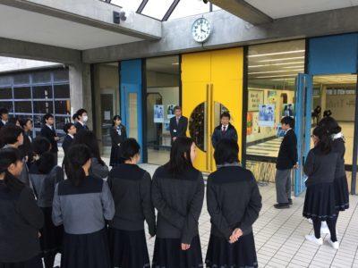 中学校 校外美化活動(29.11)1