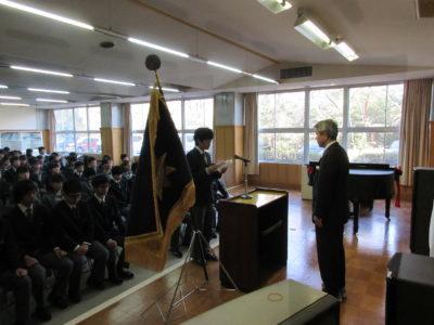中学校 中3卒業式(30.3)2