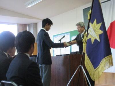 中学校 中3卒業式(30.3)1