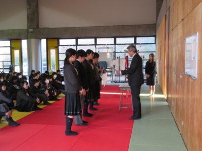 中学校 冬季集会(30.12)1
