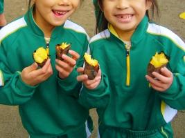 小学校 焼き芋(30.12)2