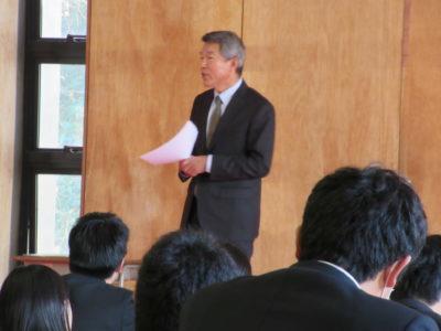 中学校 冬季集会(30.12)2