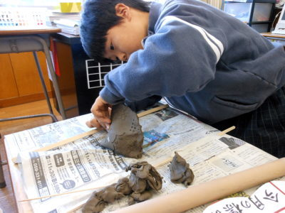 小学校 陶芸教室(29.11)1