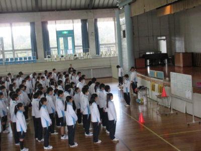 中学校 球技大会(30.3)1