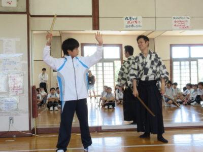 中学校 歌舞伎ワークショップ(30.6)2