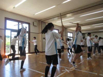 中学校 歌舞伎ワークショップ(30.6)3