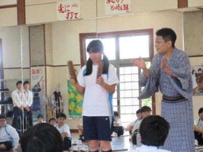 中学校 歌舞伎ワークショップ(30.6)1