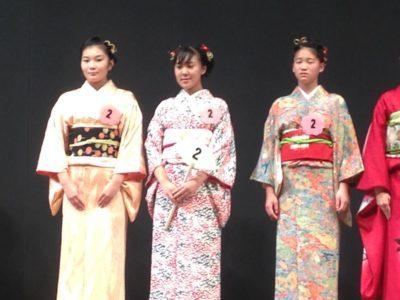 中学校 着物コンテスト(30.10)3