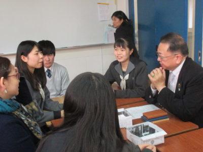 中学校 台湾来校(30.10)1